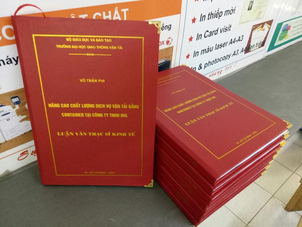 Đóng quyển bìa mạ vàng Trang chủ