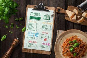 In menu giá rẻ 1 In menu giá rẻ tại Hà Nội