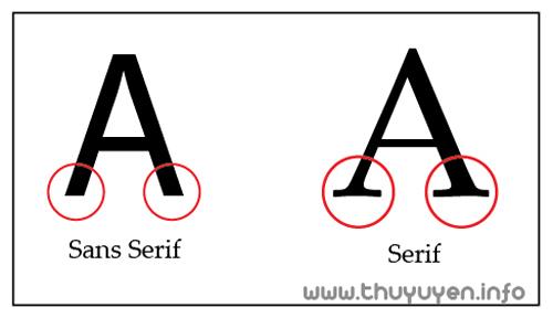 phân biệt họ font serif và sans-serif Hướng dẫn phân biệt họ font Serif và Sans-Serif